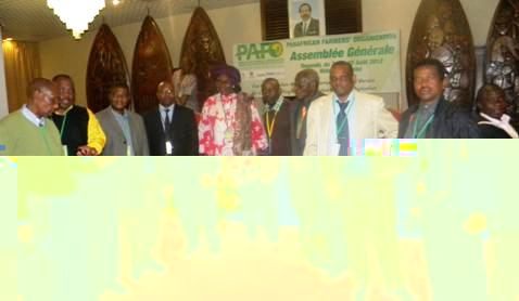 The SACAU delegation at the general assembly. Mr Benstrong is third from right