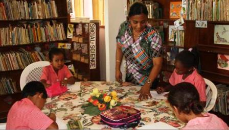 A Library Activity Session At Plaisance Primary