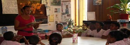 A Story  Telling Session At Takamaka School