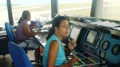 Staff in the control tower