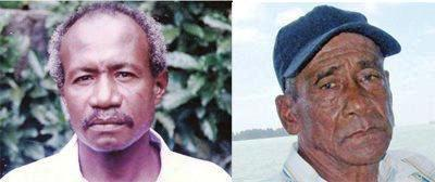 Messrs Tambara (right) and Songoire … free at last!