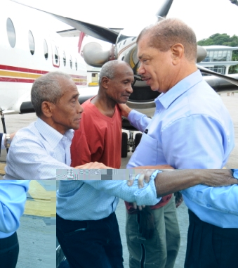 Freed hostages back on home soil-Emotional welcome for Tambara and Songoire