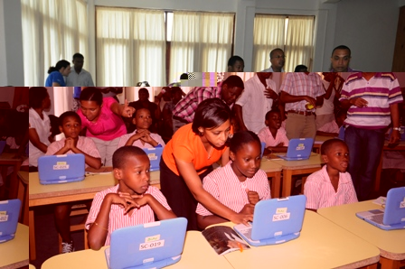 A demonstration of how technology can be applied in teaching