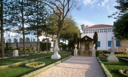 A view of the Shrine of Bahá'u'lláh near Acre, Israel