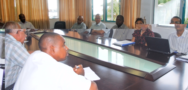 A partial view of the meeting between Minister Meriton and the evangelist leaders
