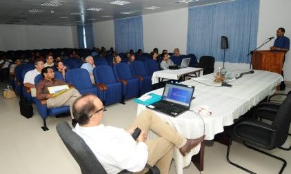 Conference delegates listening to a presentation