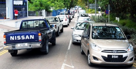 Vehicles stuck in a traffic jam in Victoria. A traffic management plan is being proposed to ease congestion and improve roads for better circulation