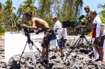 Some of the filming sessions on Aldabra.