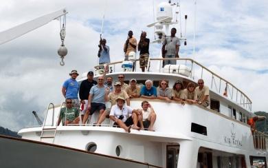 The crew on Le Kir Royal