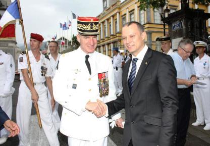 Le Ministre Adam s'est entretenu avec le général Jean-François Hogard, Commandant des Forces Armées de la Zone Sud de l'Océan Indien