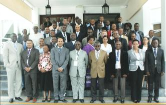A souvenir photograph of delegates at the Cape Town seminar