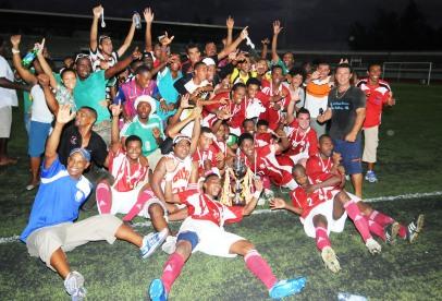 ANSE REUNION… Land Marine Cup winners