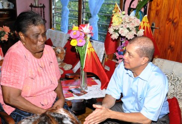 President Michel pays a visit to an emotional Eva Charles