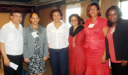 The Seychelles delegation who attended the conference in Dar-Es-Salaam
