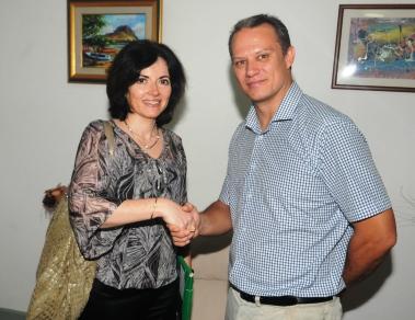 Mme Imma Tor Faus de l'OIF a rencontré, hier matin, le Ministre des Affaires Etrangères, Monsieur Jean-Paul Adam