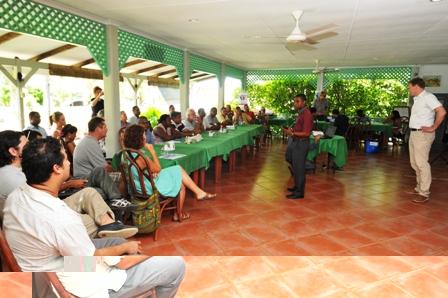 Mr Fanny addressing the gathering