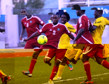 The Seychelles defenders had to work hard to keep the score low against the Mozambicans