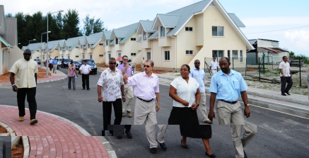 Touring the Perseverance housing village
