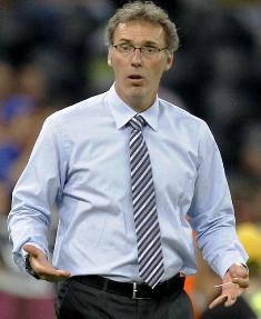 Laurent Blanc en tant qu'entraîneur de l'équipe de France