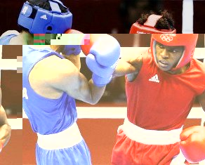 Boxer Andrique Allisop (right) qualified for the Olympics but lost his first bout in London to