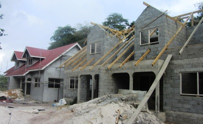 Construction work on the housing project is at an advanced stage