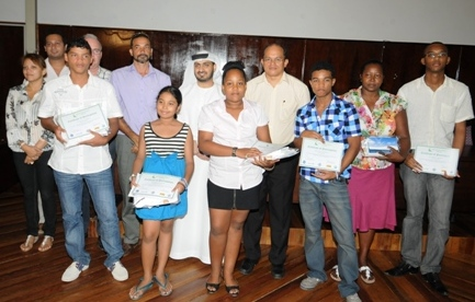 The winners in a souvenir photograph with guests at the prize giving ceremony