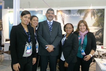 The Seychelles delegation at the SATTE