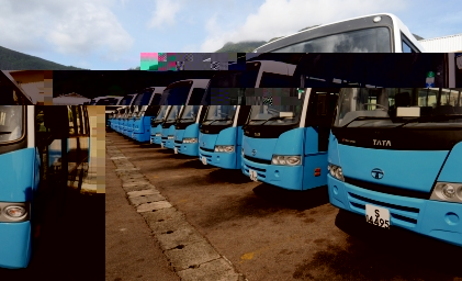 A newly delivered batch of buses for the SPTC. The company will in future invest in new energy efficient and environmentally friendly technologies for its buses