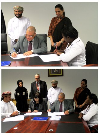 The signing of the memorandum of understanding