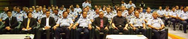 Senior officials from the Indonesian Air Force and Seychelles Mission to Indonesia during the official hand-over of the water machine