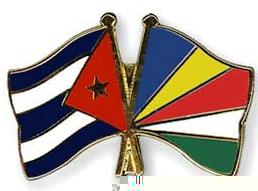 The two countries' flags as published in the Cuban media