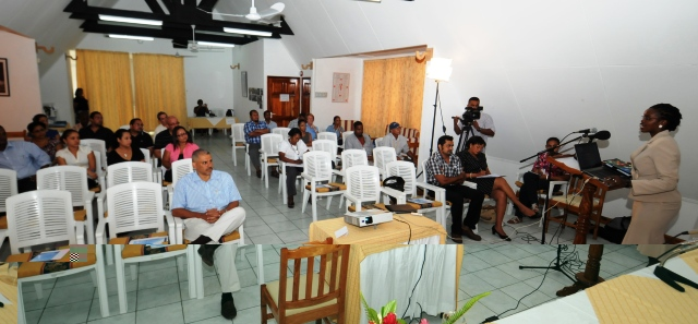 The opening session of the meeting yesterday at Care House