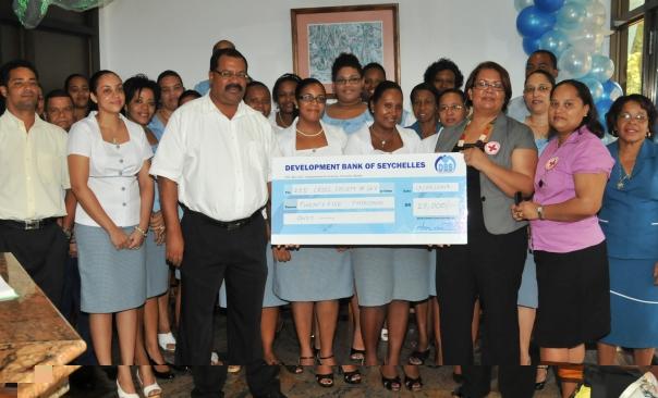 The cheque presentation ceremony