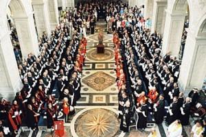 Meeting for a solemn mass
