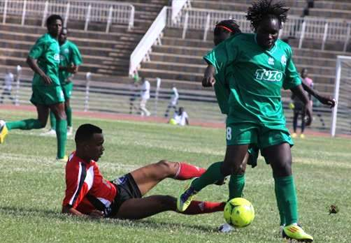 Action from Anse Reunion/Gor Mahia match