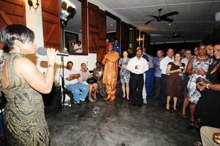Lima Calbio entertaining guests at the reception