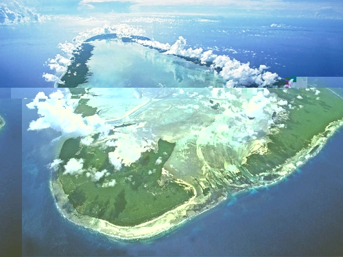 Aldabra seen from the air