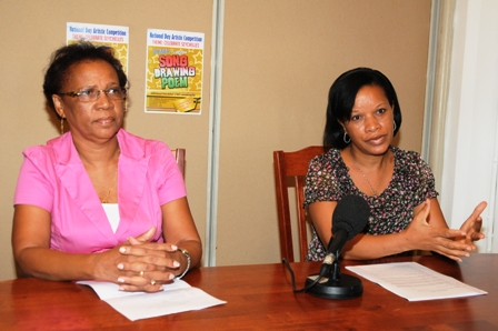 PS Delcy (left) and Rose during the press conference yesterday