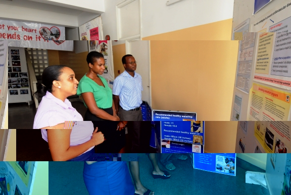 An exhibition at the Ministry of Health to mark Productivity awareness week