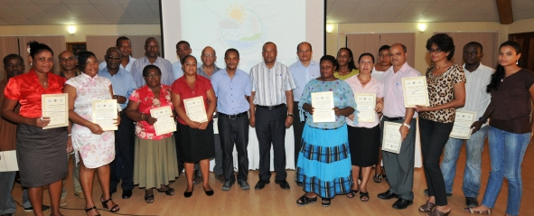 Staff of the Met Services were also given certificates in appreciation of the work they do