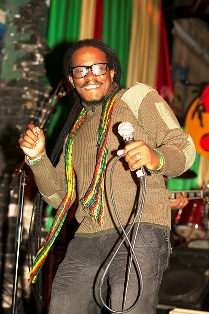 Ras Pyek performing in Austin