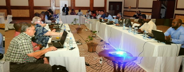 Delegates on the final day of the workshop yesterday