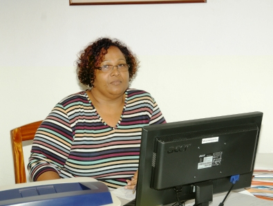Fabiola Antat in the sales department of Seychelles Nation