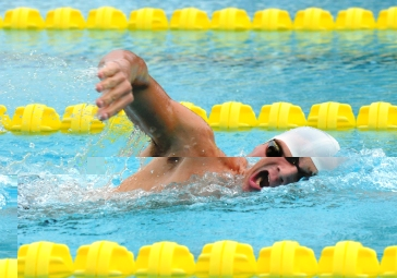 Men's 800m freestyle race winner Viktora