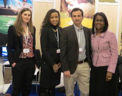 The Seychelles delegation at the Meedex tourism trade fair