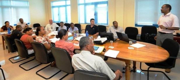 Stakeholders during the recent meeting held with the aim of coming up with an integrated and comprehensive rehabilitation plan for dealing with the ever-rising social problems associated with drug addiction in Seychelles