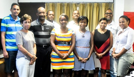 The institute's board members with the social renaissance secretariat