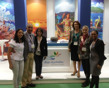 The Seychelles delegation at the WTM-Latin America tourism trade fair