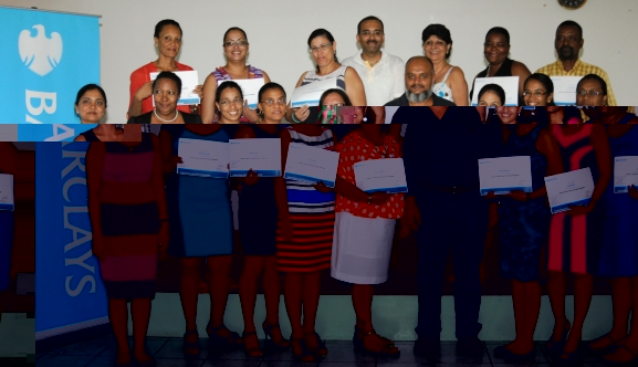 Those who took part in the training in a souvenir photograph after they had received their certificates