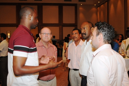 Mr Vieira discussing with the guests